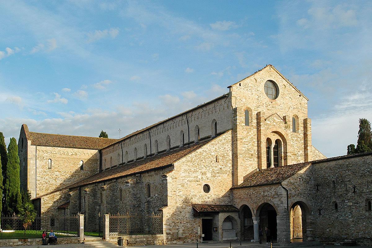 Aquileia, Blick auch die Basilika Romana