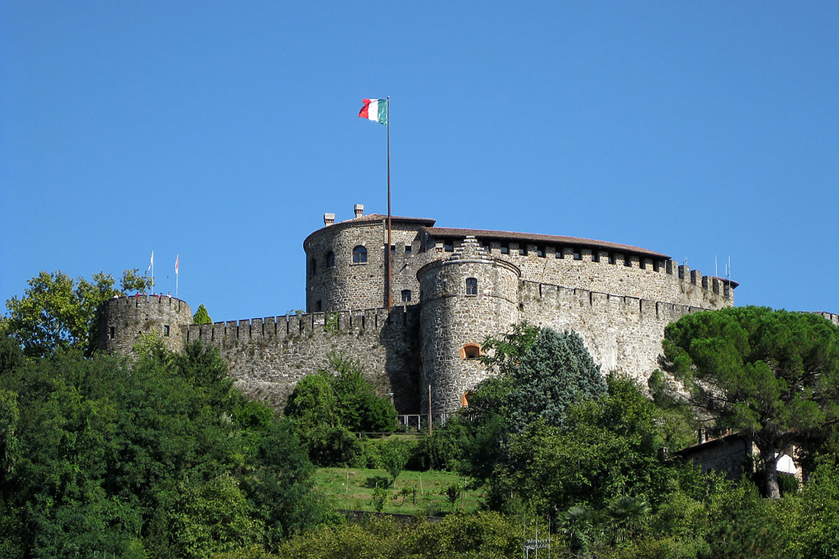 Das mittelalterliche Schloss in Gorizia