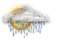 Wechselhaft mit starkem Regen
