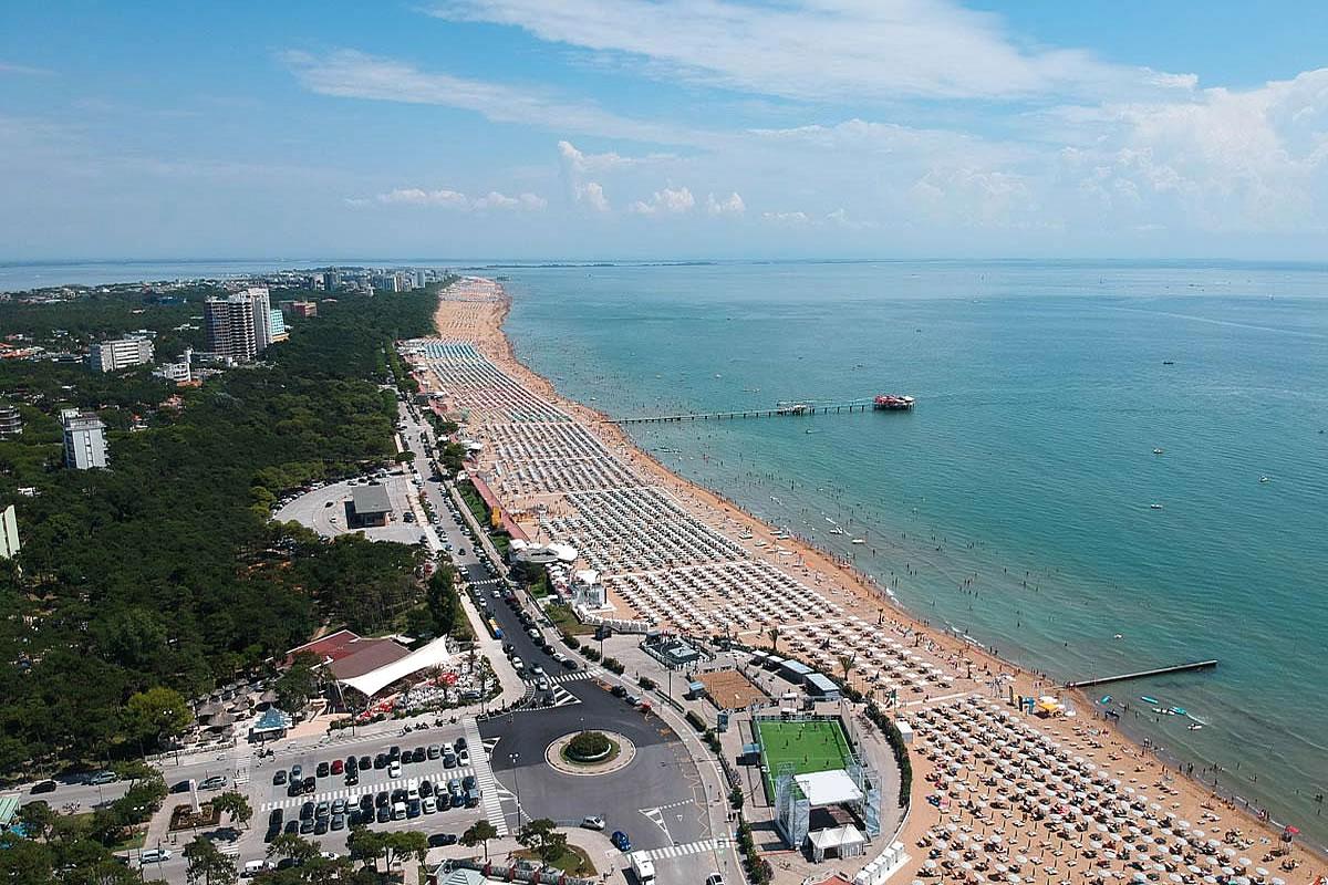 Strand in Lignano Pineta