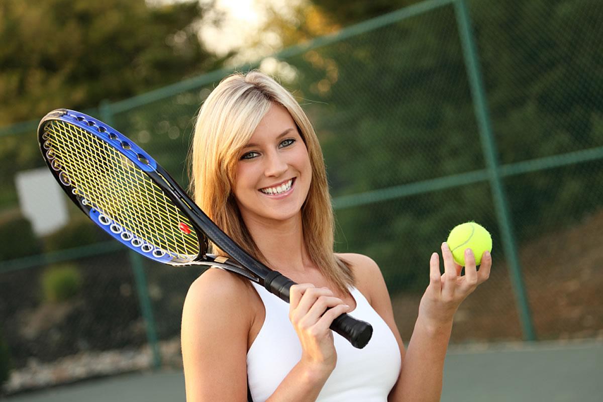Tenniskurs mit einem M�dchen